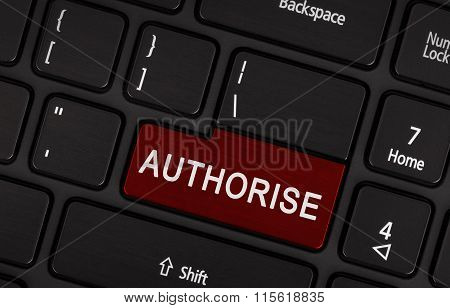 Laptop Button - Authorise