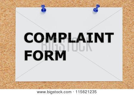 Complaint Form Concept