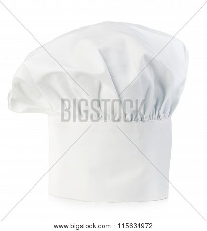 Original Cooks Cap. Chef's Hat Close-up Isolated On A White Background.