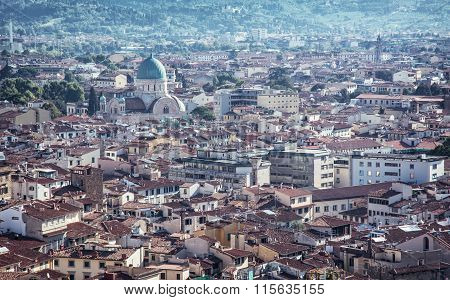 Great Synagogue In Florence City, Italy, Urban Scene