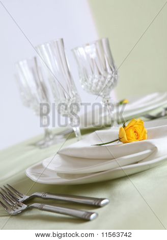 Elegant table setup
