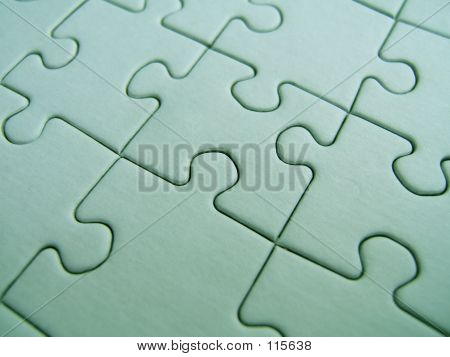 green puzzle close-up poster