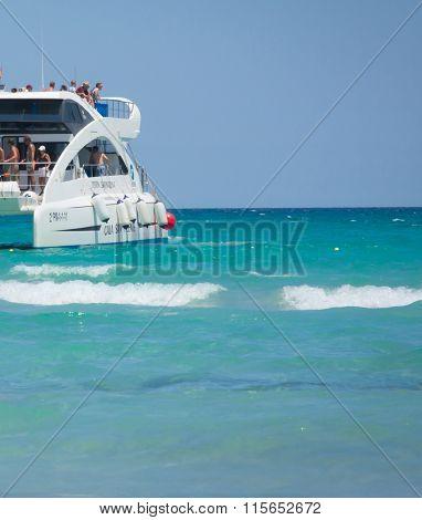 Catamaran By The Jetty
