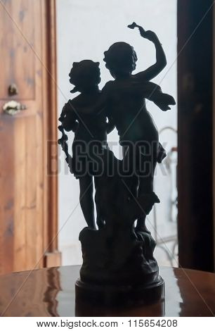 Sculpture Of Two Children