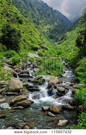 Bagsu Nag Waterfall. McLeod Ganj, Himachal Pradesh, India