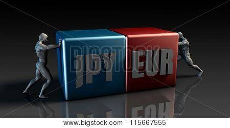 JPY EUR Currency Pair or Japanese Yen vs European Euro