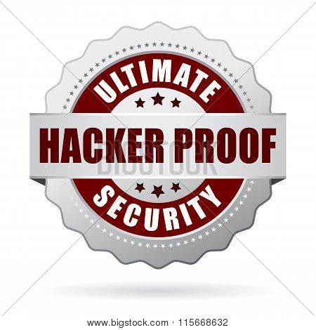 Hacker proof security icon