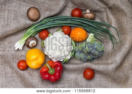 Vegetables On Sackcloth