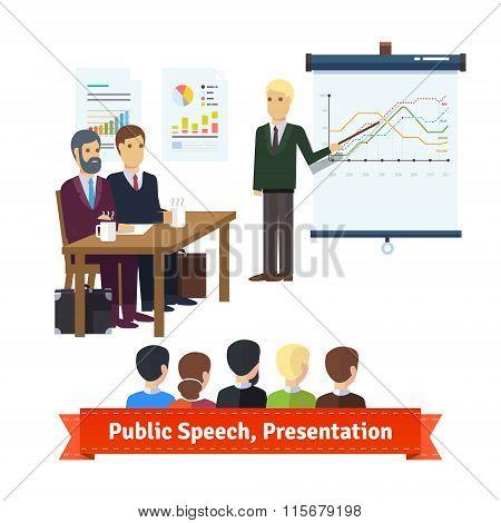 Sale presentation, team building speech