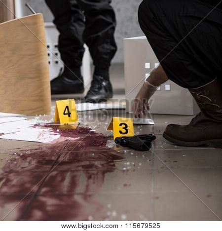 Body At The Crime Scene