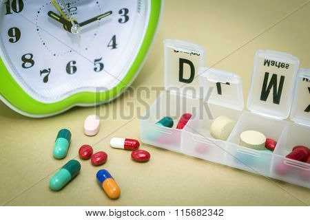 Some Pills In A Pillbox, Daily Medication Treatment