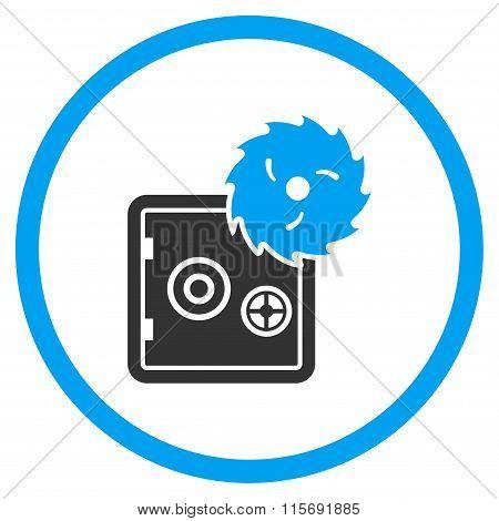 Hacking Theft Rounded Flat Icon