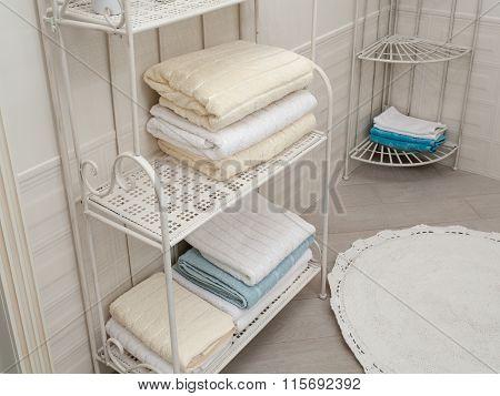 Bathroom Towels On The Shelves