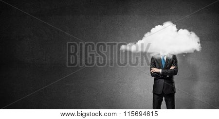 Cloud headed businessman