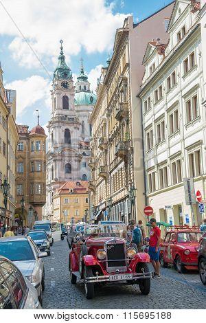 People Walking On Mala Strana District - Prague