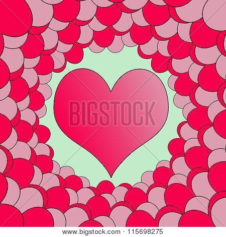 Bubbly Valentine Heart