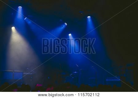 Drumkit On Stage At Start Of A Concert.