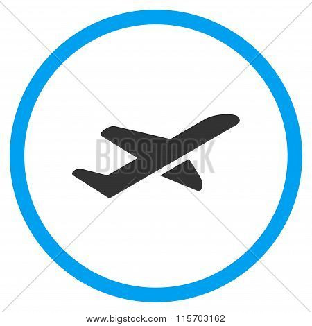 Airplane Takeoff Circled Icon