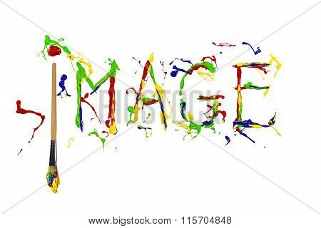Multicolor Paint Painted Word Image