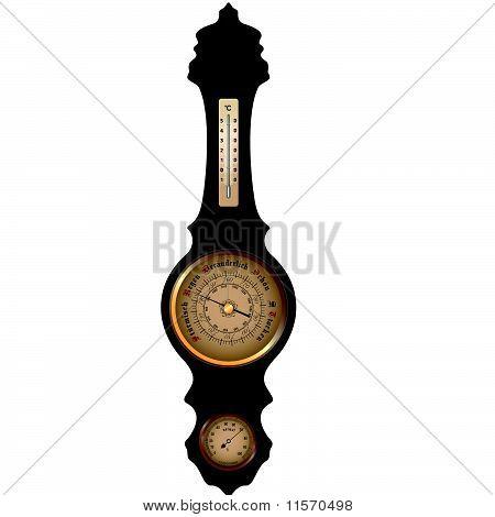 Vector Antique German Barometer