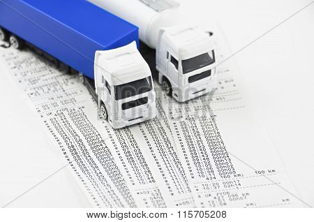 Digital Tachograph Printed Day Shift..