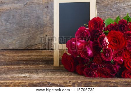 pile of red roses