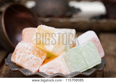 Lumps of Lokum or Turkish Delight