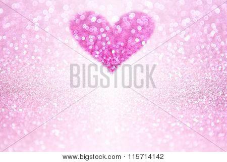 Pink Sparkle Glitter Heart Party Invite