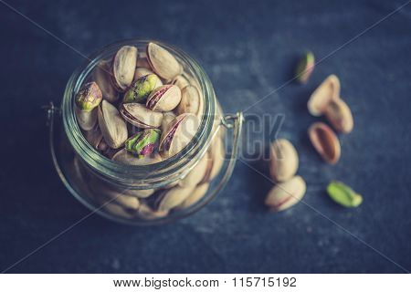 Pistachios In The Jar