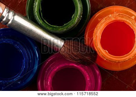 Jars Of Glass Paint