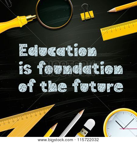 Education is foundation of the future, study template, vector illustration.