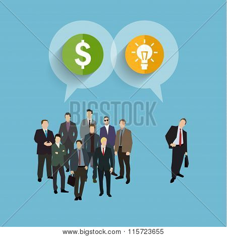 Concept of crowdfunding.