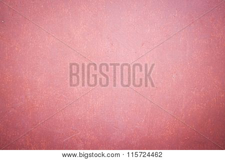 Concrete Wall Background With Red