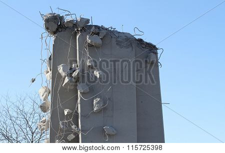 Dangling chunks of cement