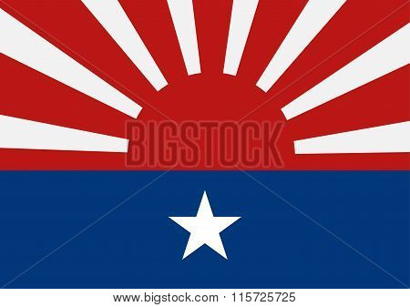 Karen National Liberation Army Flag. Vector Illustration Design.