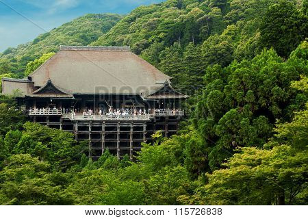 Kiyomizu-dera Temple Distant Blue Sky Forest H