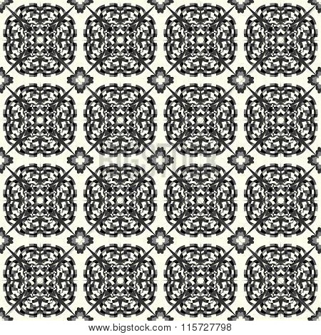 Monochrome Beautiful Seamless Pattern. Vintage Elements