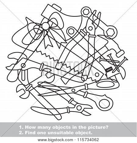 Tools mishmash set in vector.
