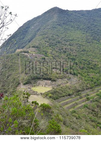 Choquequirao Inka Ruin In Peruvian Mountain Jungle