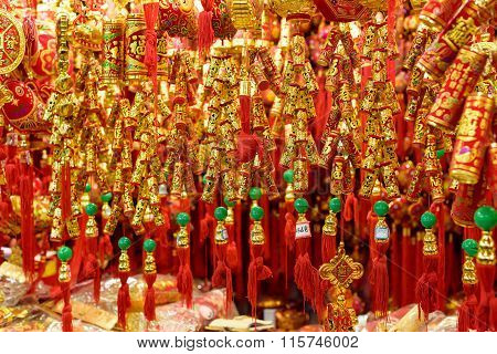 Traditional Chinese new year firecrackers