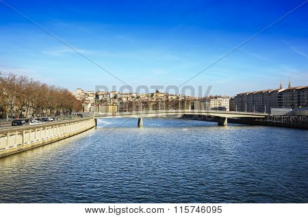 Croix Rousse District And Saone River, Lyon, France