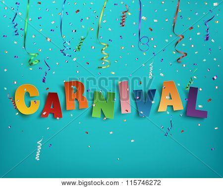 Handmade typographic word carnival.