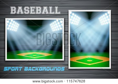 Set Backgrounds of baseball stadium