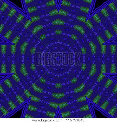 Seamless circle pattern purple blue green