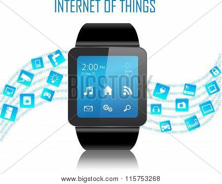 Smartwatch And Internet Of Things Concept