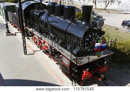 A Locomotive With Wagons. Volgograd, Russia