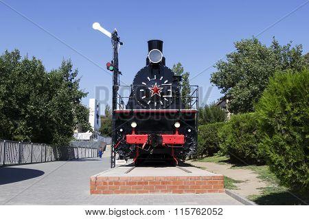 A Locomotive With Wagons. Volgograd, Russia