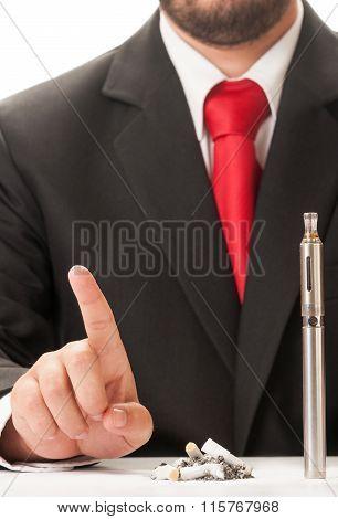 Chose Clean Electronic Cigarette Instead Dirty Cigarette Stumps.
