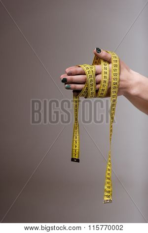 Tape Measure Around Hand