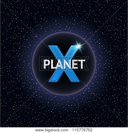 X Planet vector illustration. Design concept